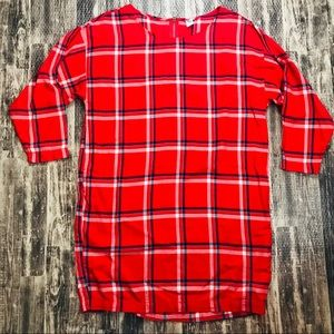 Old Navy Plaid Red White Blue Tunic Style Dress